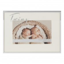 Bambino Silverplated Photo Frame - Twins