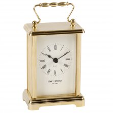Widdop Classic Carriage Mantel Clock - Gold