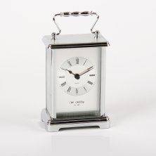 Widdop Classic Carriage Mantel Clock - Silver