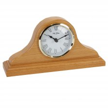 Widdop Light Oak Napoleon Mantel Clock