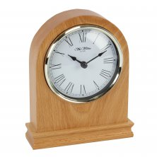 Widdop Light Oak Arched Mantel Clock
