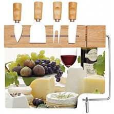 Glass Cheese Board Set