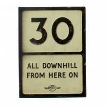 30th Birthday MPH Road Sign Plaque