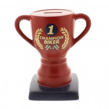 MPH No.1 Champion Biker Trophy Money Box