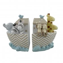 Noahs Ark Set of 2 Bookends