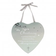 Reflections Of The Heart Mirror Heart Plaque Christening