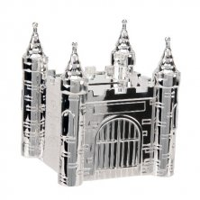 Castle Silver Plated Money Box