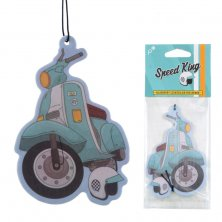 Retro Blue Scooter Air Freshener