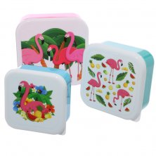 Set of 3 Tropical Flamingo Lunch Boxes