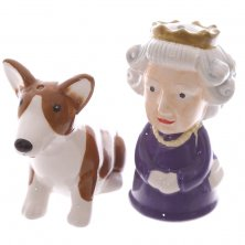Queen and Corgi Salt & Pepper Pots