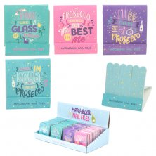 Prosecco Slogans Matchbook Nail Files