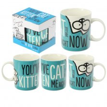 Simon's Cat Kitten Slogan Bone China Mug