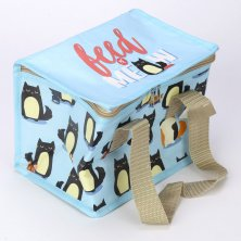 Feline Fine Cat Insulated Lunch Bag