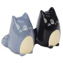 Black and Grey Cat Salt & Pepper Pots