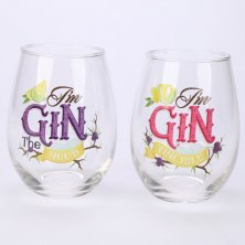 Set of 2 Glass Gin Tumblers