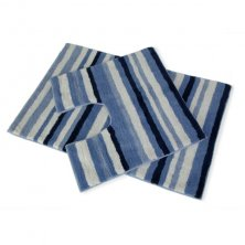 Candy Stripe 2 Piece Bath Mat Set