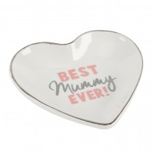 Lasting Memories Best Mummy Ever Heart Shaped Plate