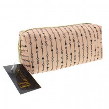 Lila Grace Pink & Black Cosmetic Bag