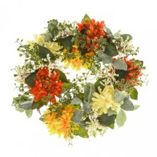 Artificial Chrysanthemum Wreath