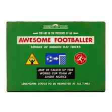 Awesome Footballer Ministry of Chaps Metal Wall Plaque