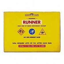 Runner Ministry of Chaps Metal Wall Plaque
