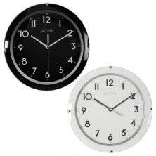 Rhythm Round Silent Sweep Wooden Wall Clock