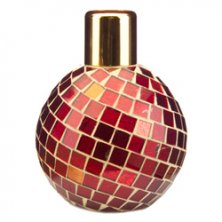 Wax Lyrical Red Mosaic Glass Reed Diffuser Bottle