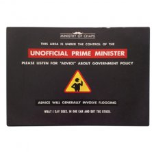 Unofficial Prime Minister Ministry of Chaps Metal Wall Plaque