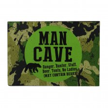 Wildside Man Cave Metal Wall Plaque