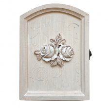 Vintage Rose Key Holder Box