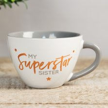Shining Star Cappuccino Mug - My Superstar Sister
