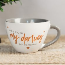 Shining Star Cappuccino Mug - Life Is Tough My Darling