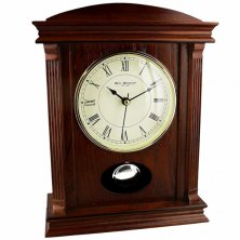 Wooden Mantel Clock With Pendulum