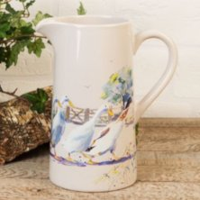 The Wildlife Collection Stoneware Jug - Geese
