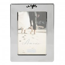 Amore Silver Finish Photo Frame Wide Border 4x6