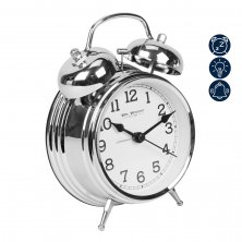 Alarm Clock Traditional Double Bell - Chrome