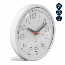 Alarm Clock Round Sweep Movement - White