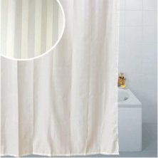 Blue Canyon Satin Stripe Polyester Shower Curtain