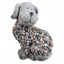 Country Living Mosaic Polystone Garden Ornament - Dog