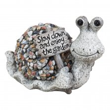Country Living Mosaic Polystone Garden Ornament - Snail