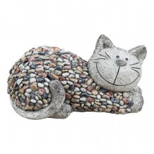 Country Living Mosaic Polystone Garden Ornament - Cat