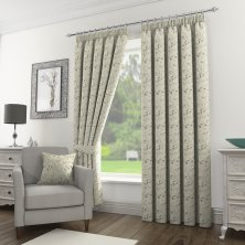 Silver Sherwood Ready Made Pencil Pleat Curtains