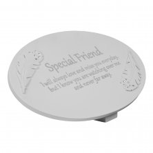 Thoughts Of You Resin Graveside Memorial Plaque - Special Friend