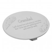 Thoughts Of You Resin Grave Side Memorial Plaque - Grandad