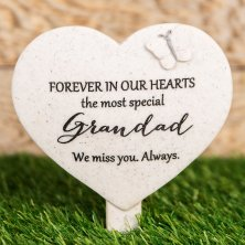 Thoughts Of You Heart Graveside Stake - Grandad