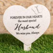 Thoughts Of You Heart Graveside Stake - Husband