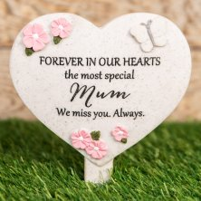 Thoughts Of You Heart Graveside Stake - Mum