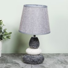 Moroccan Pebble Lamp With Grey Shade