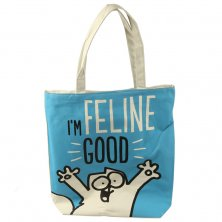 Simon's Cat I'm Feline Good Cotton Shopping Bag