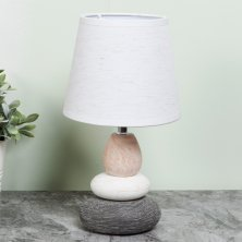 Moroccan Pebble Lamp With White Shade